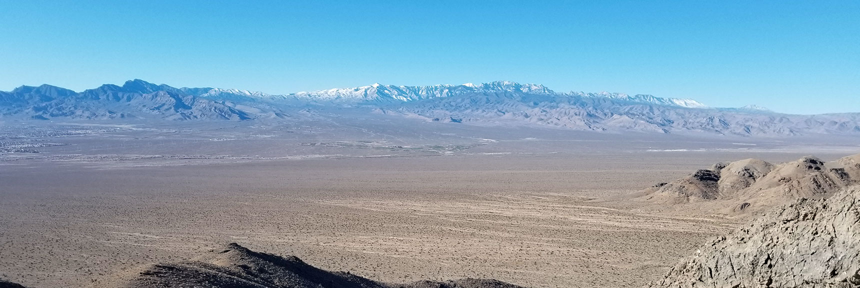 La Madre Mountain Wilderness and Mt Charleston as Seen from 3000ft on Gass Peak SW Approach
