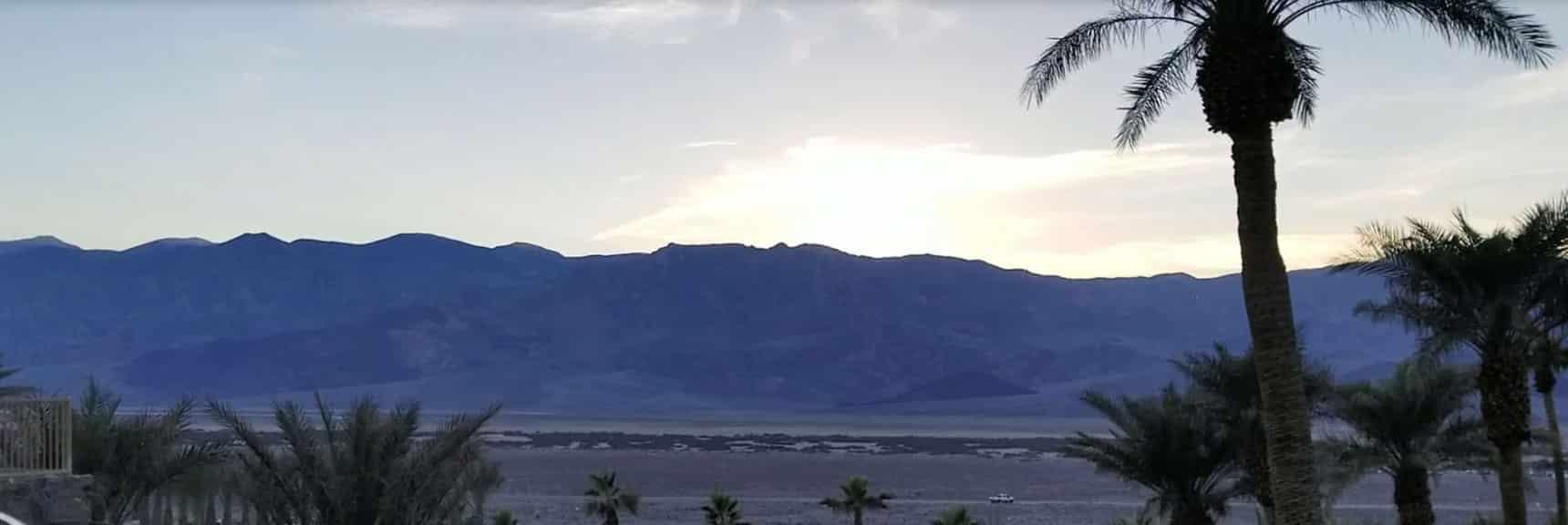Sunset Over Death Valley National Park November 24th 2018