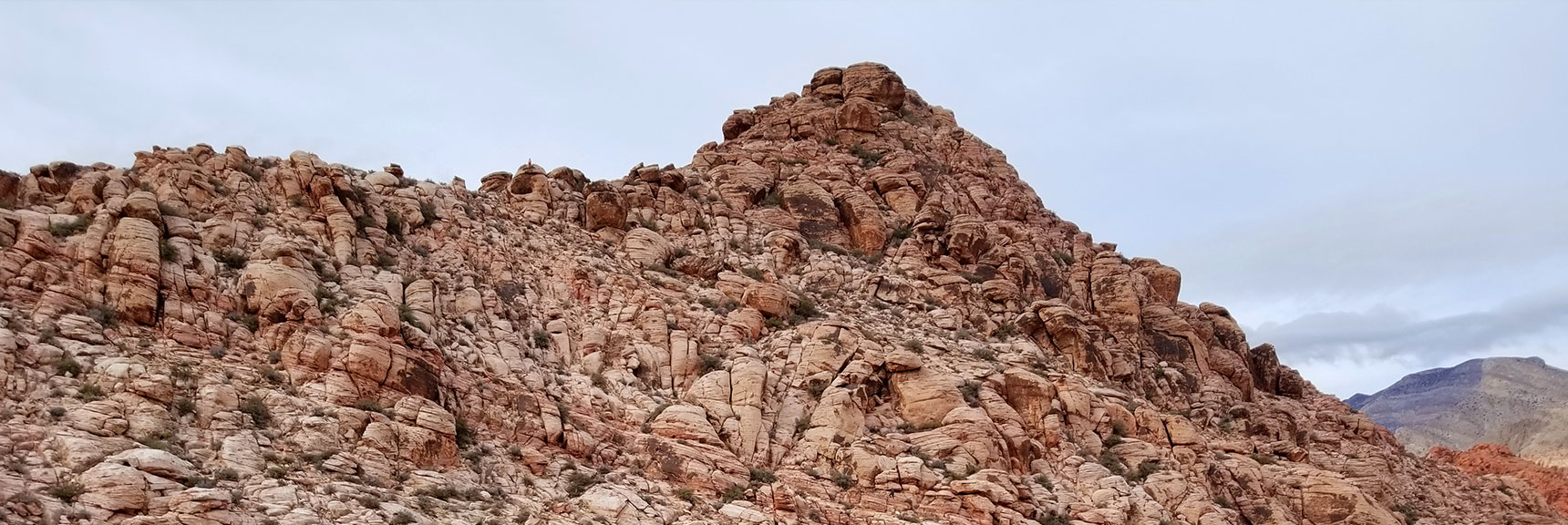 Looking at the Calico Hills in Calico Basin Northwest of Las Vegas Nevada