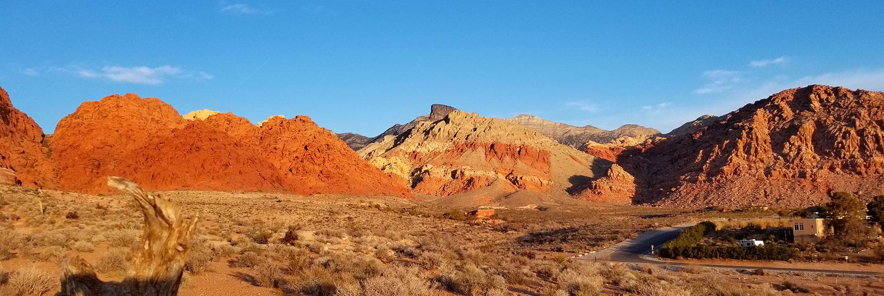 Long View of Calico Basin Northwest of Las Vegas, Nevada