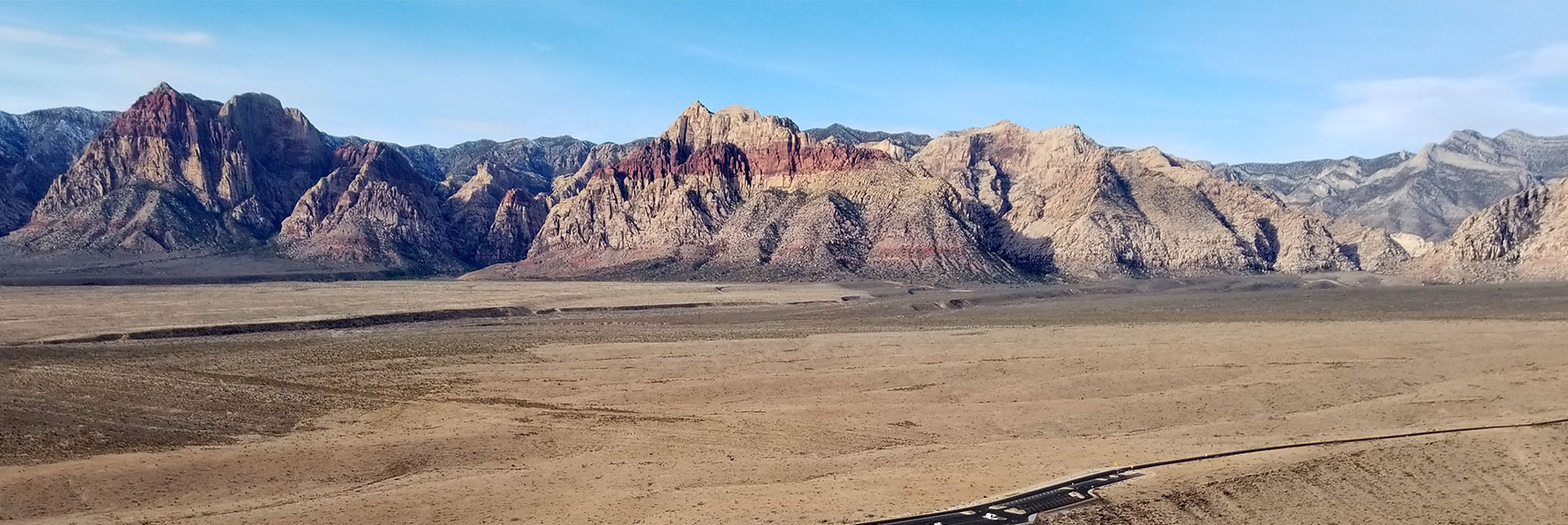View Across Red Rock National Park from the Summit of Calico Hills in Nevada