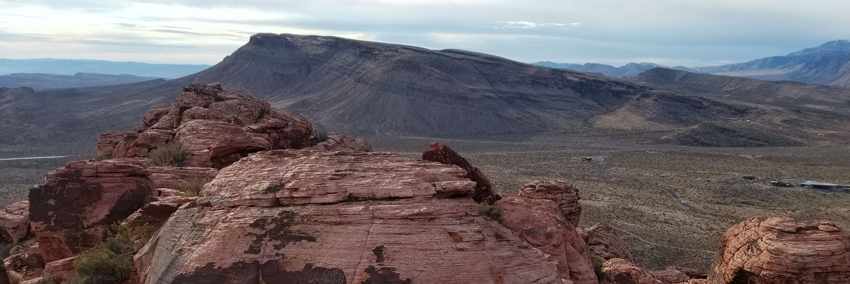 View Toward Goat Mountain from the Summit of Calico Hills in Red Rock National Park, Nevada
