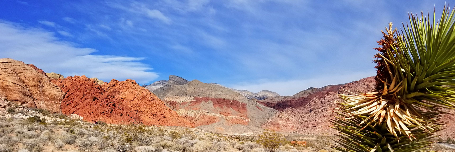 View West at the Beginning of the Grand Loop in Calico Basin, Nevada