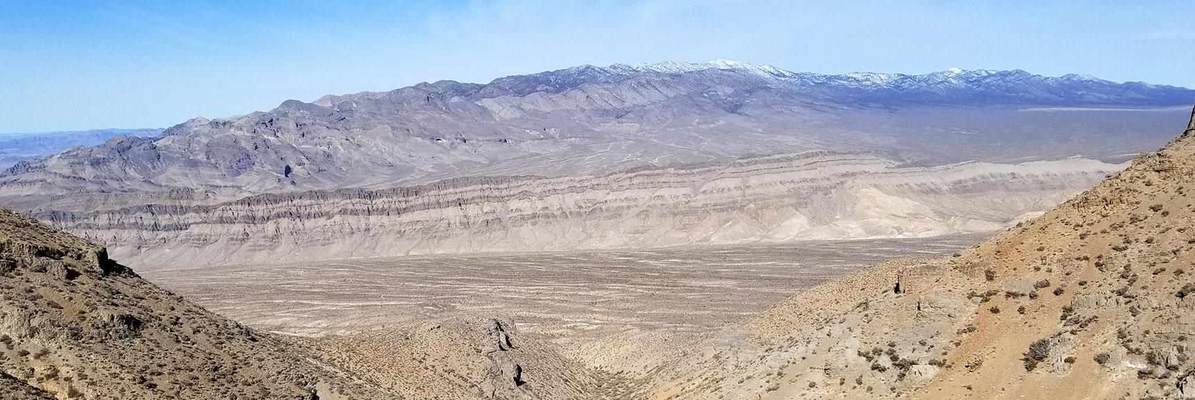 Sheep Range Looking Down North Trail Canyon on Gass Peak, Nevada