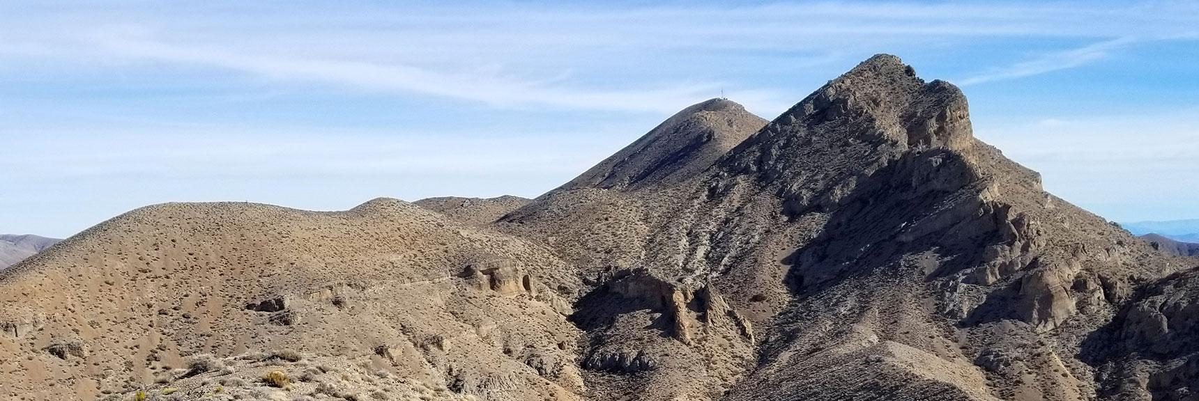 East Summit Viewed from West Summit of Gass Peak, Nevada