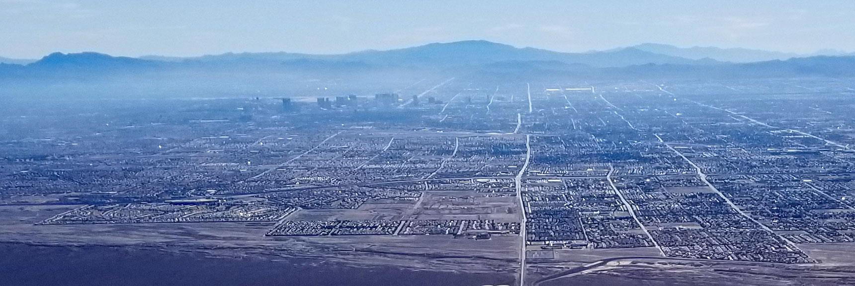 Las Vegas Viewed from Gass Peak, Nevada