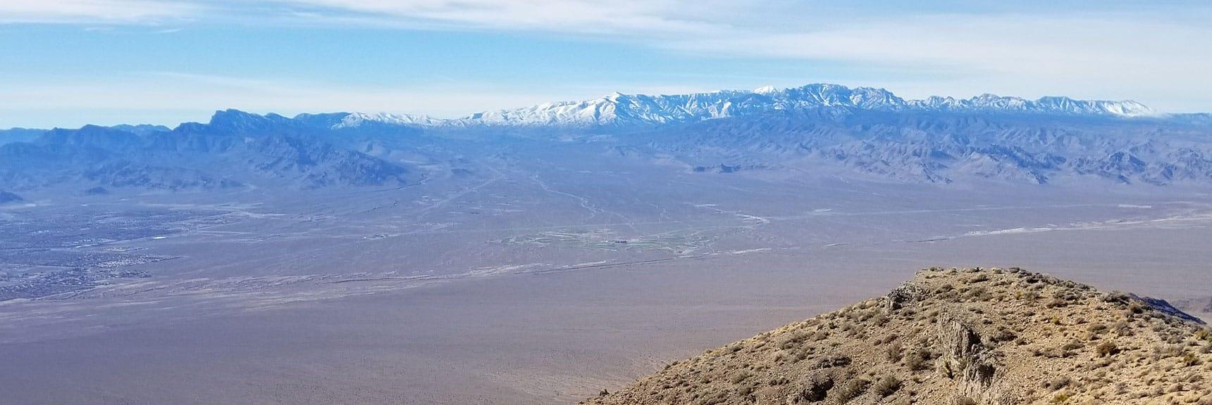 Red Rock Park, La Madre Mt. and Mt. Charleston Wilderness Viewed from Gass Peak Summit, Nevada