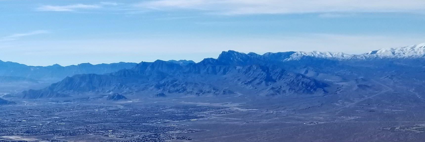 La Madre Mountain Viewed from Gass Peak Summit, Nevada