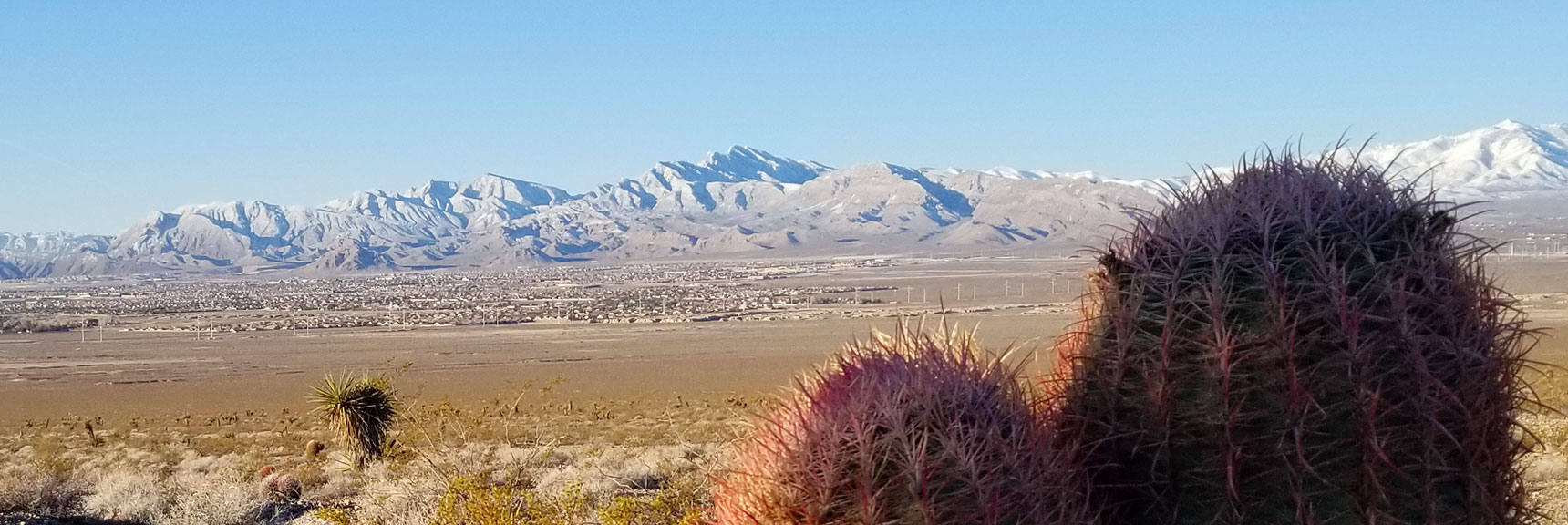 La Madre Mountain Wilderness from Southern Approach to Gass Peak, Nevada