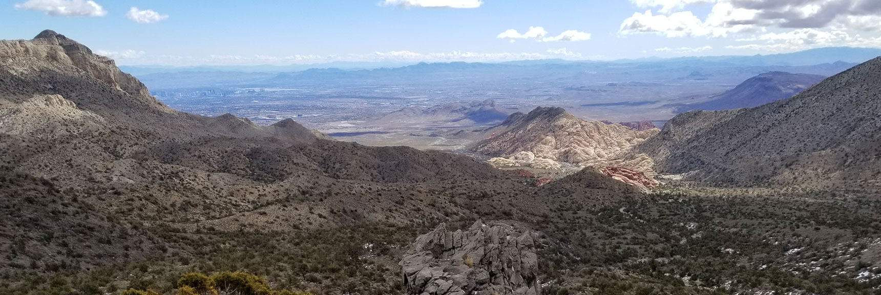 View of Calico Basin and Las Vegas from the base of La Madre Mountain