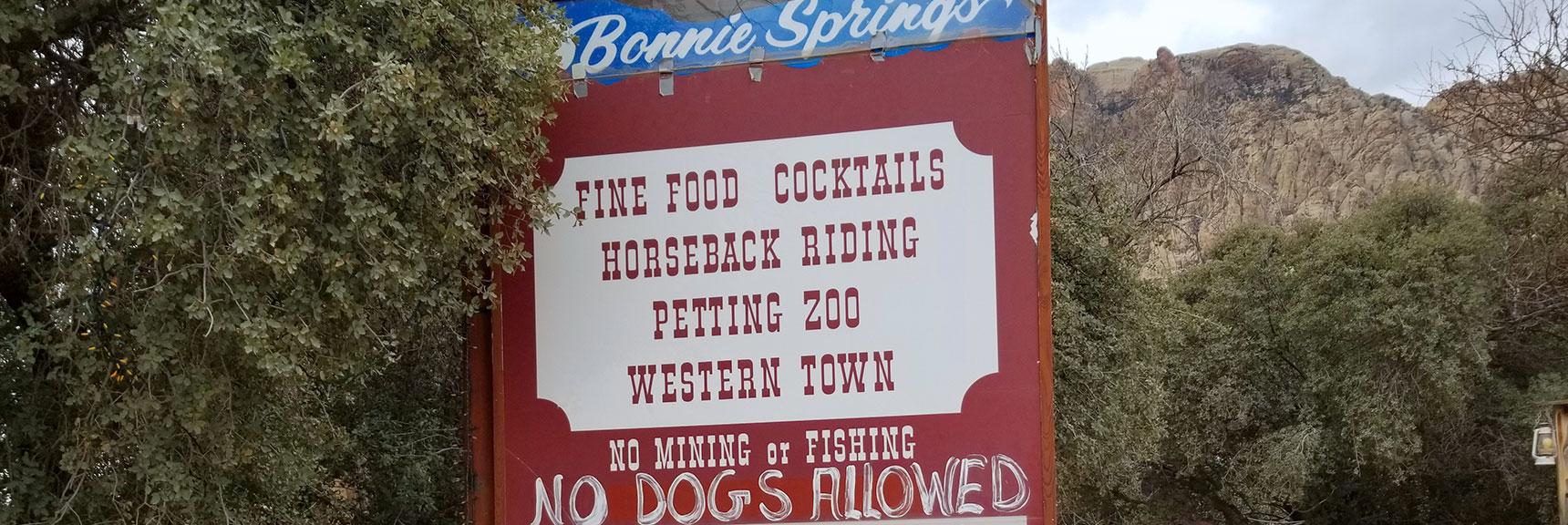 Amenities at Bonnie Springs Ranch, Nevada