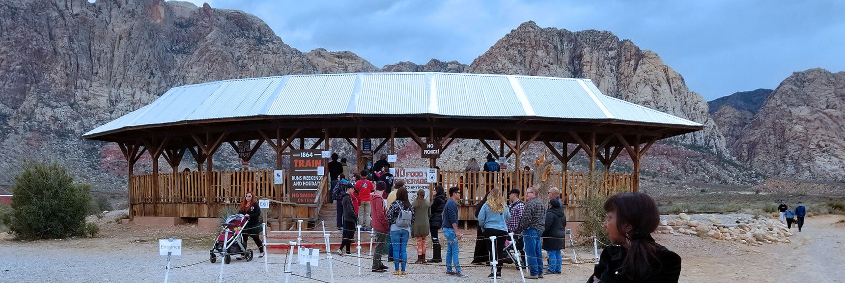 Lower train station at Bonnie Springs Ranch, Nevada