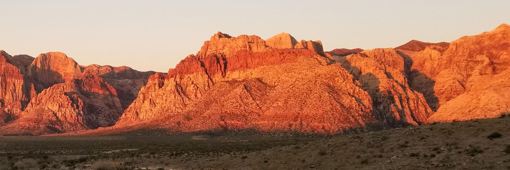 Bridge Mountain Viewed from Turtlehead Peak Saddle, Red Rock National Park, Nevada
