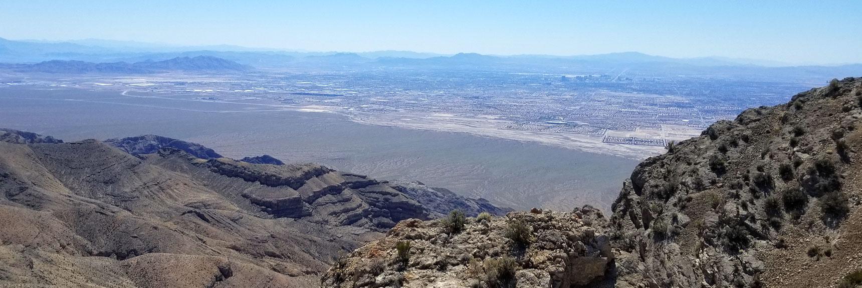 View toward Lake Mead from near Gass Peak East summit, Nevada.
