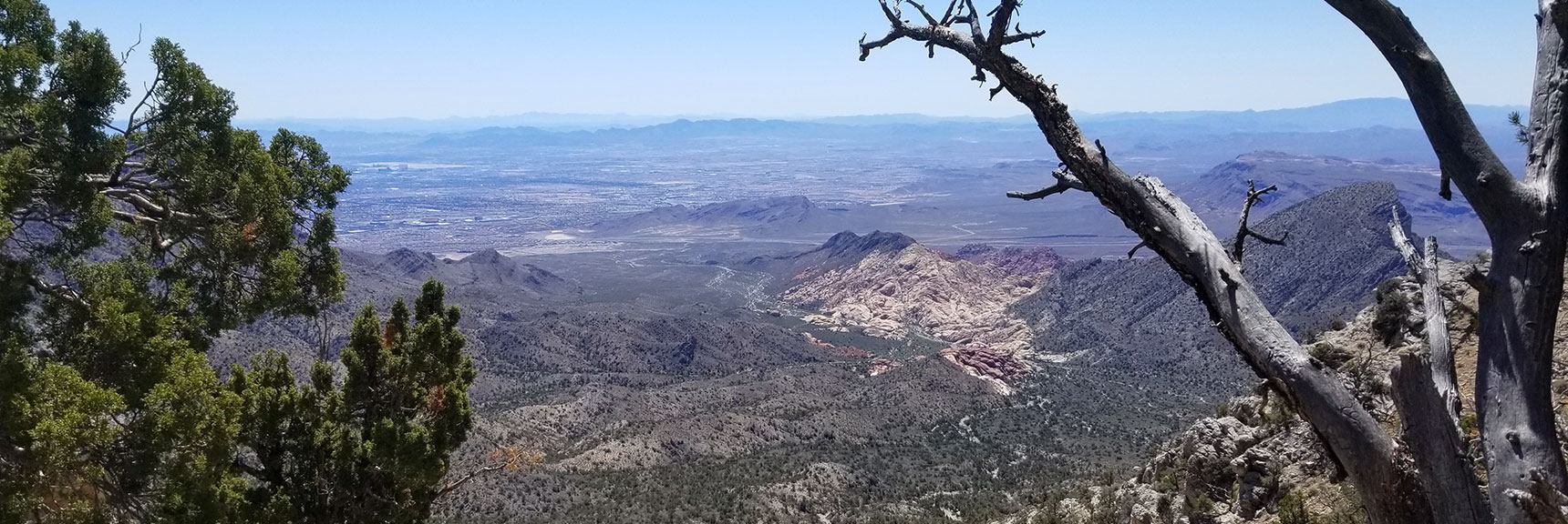 View into Calico Basin from La Madre Mt. Summit Route