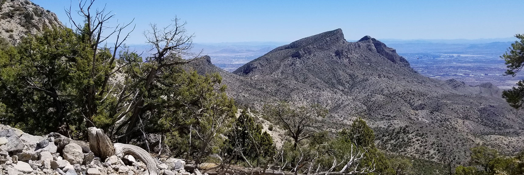 Crescent shaped mountain in Calico Basin area