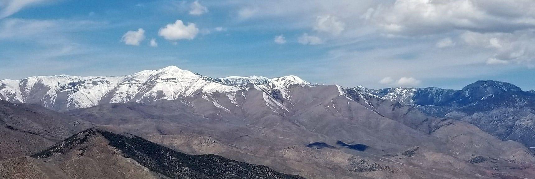 Mt Charleston Wilderness from 7800ft on Keystone Thrust, La Madre Mt Wilderness, NV