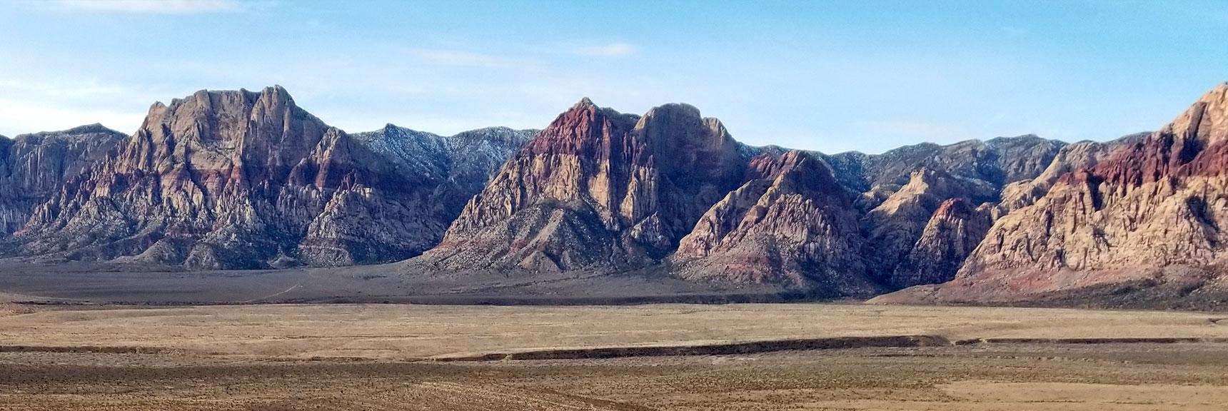 Rainbow Mountain Viewed from Turtlehead Peak Summit in Red Rock National Park, Nevada