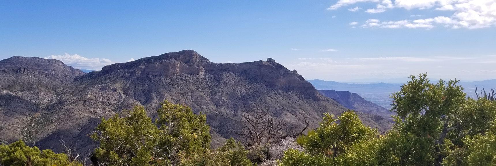 Damsel Peak Viewed from Turtlehead Peak Summit in Red Rock National Park, Nevada