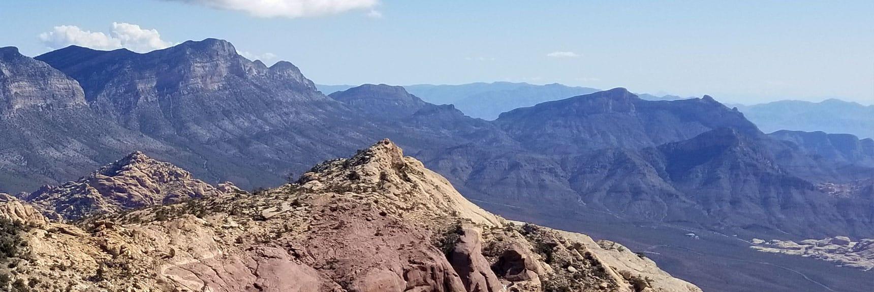 Turtlehead Peak, Damsel Peak and La Madre Mountain Viewed from Piedmont Ridge Approach to Goat Rock/North Peak