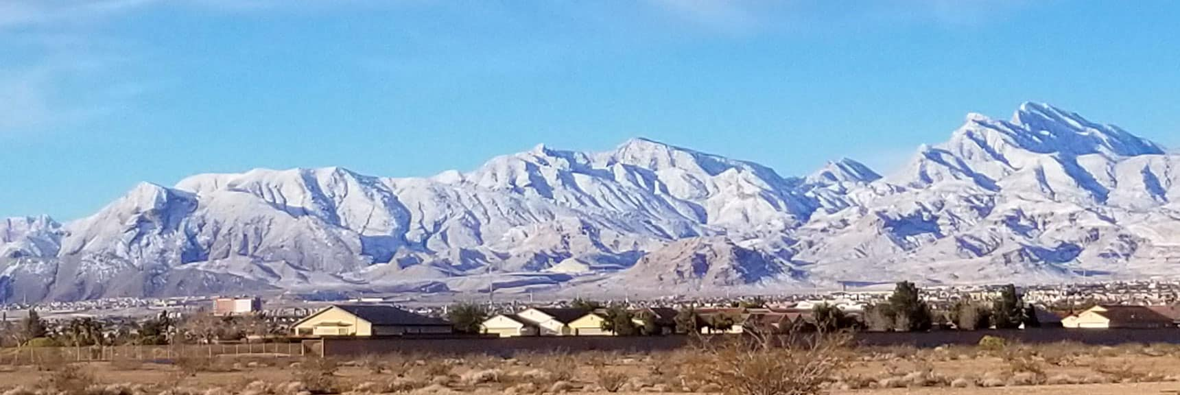 Damsel Peak Viewed from Centennial Hills in Las Vegas, Nevada