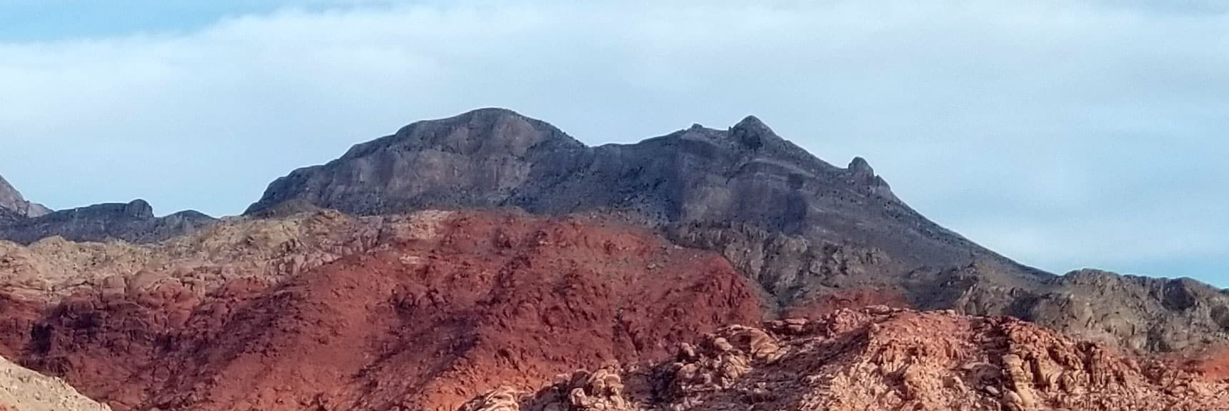 Damsel Peak Viewed from Calico Hills Summit, Calico Basin, Nevada