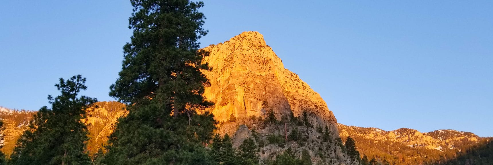 Cathedral Rock viewed from South Trailhead to Griffith Peak and Mt. Charleston