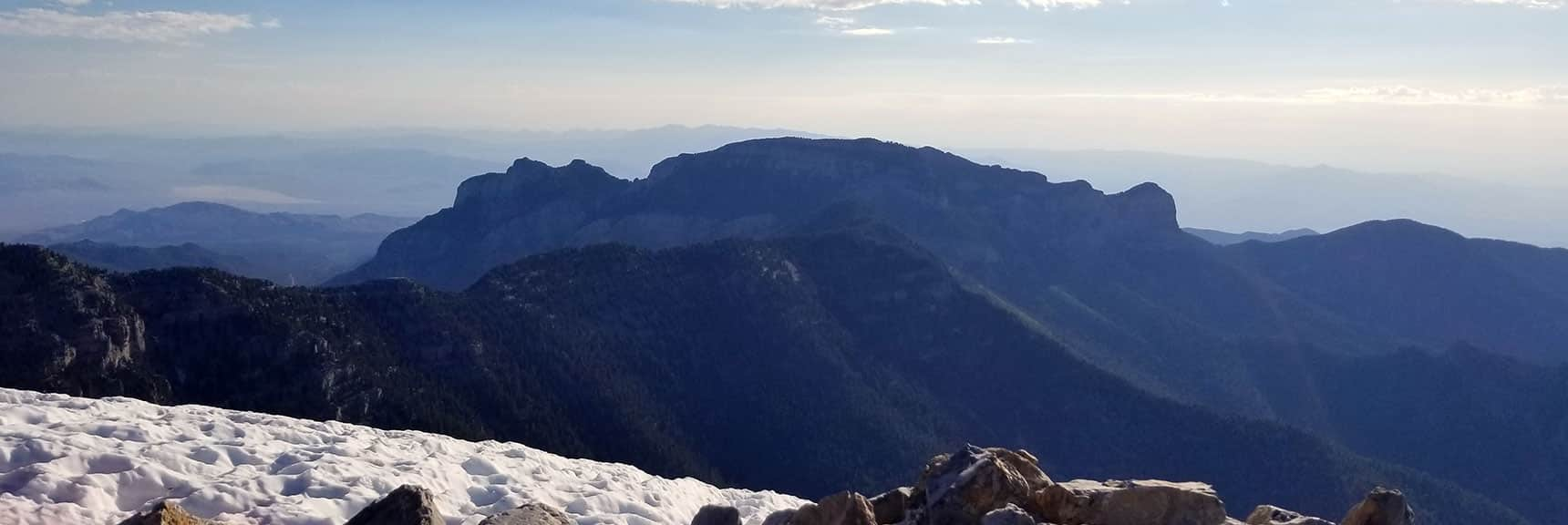 Mummy Mountain Silhouette from Charleston Peak Summit