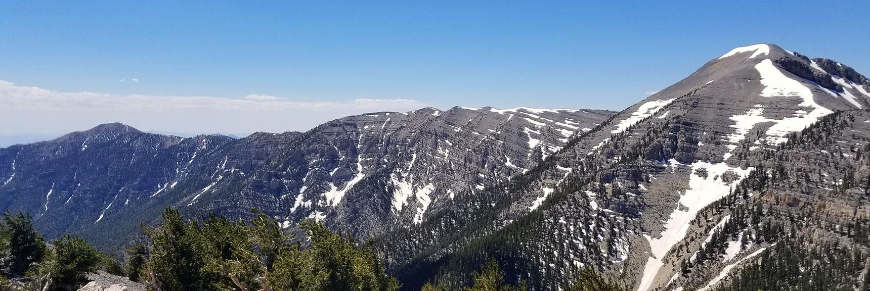 Charleston Peak Viewed from North Loop Trail Below Lee Peak Summit