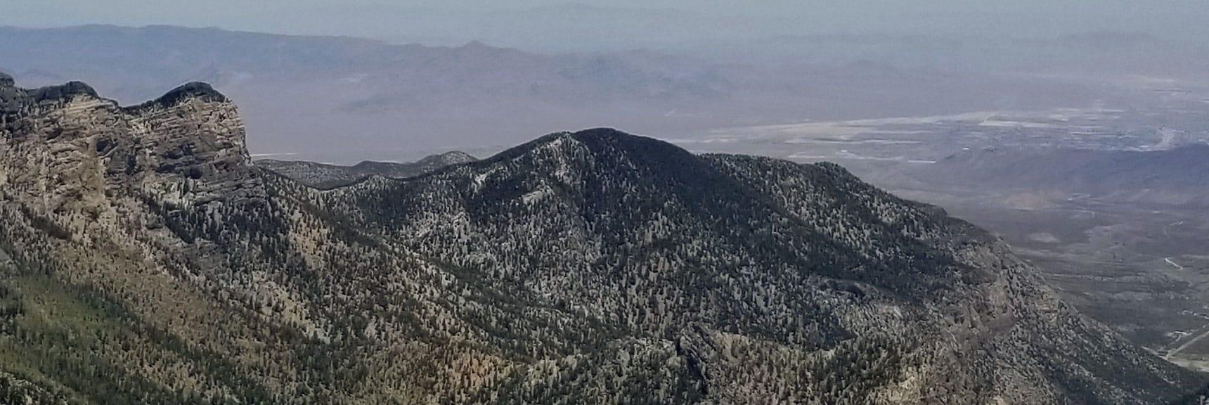 Fletcher Peak Viewed from Mt. Charleston Summit