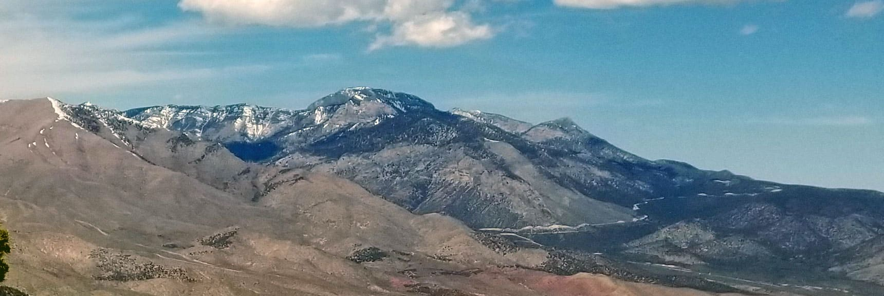 Fletcher Peak (center) Viewed from La Madre Mountain: Mummy Mt. in Background.