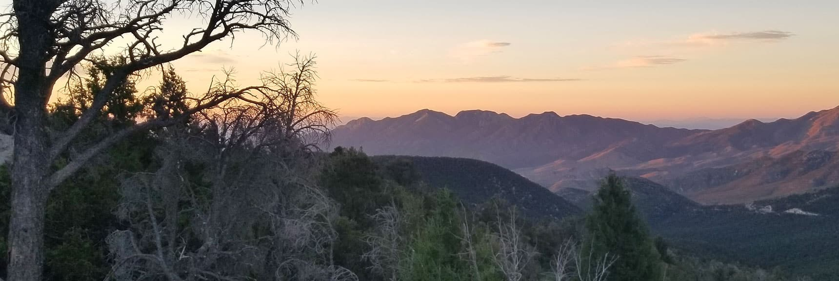 Sunrise View from North Loop Trailhead Back Toward La Madre Mountain