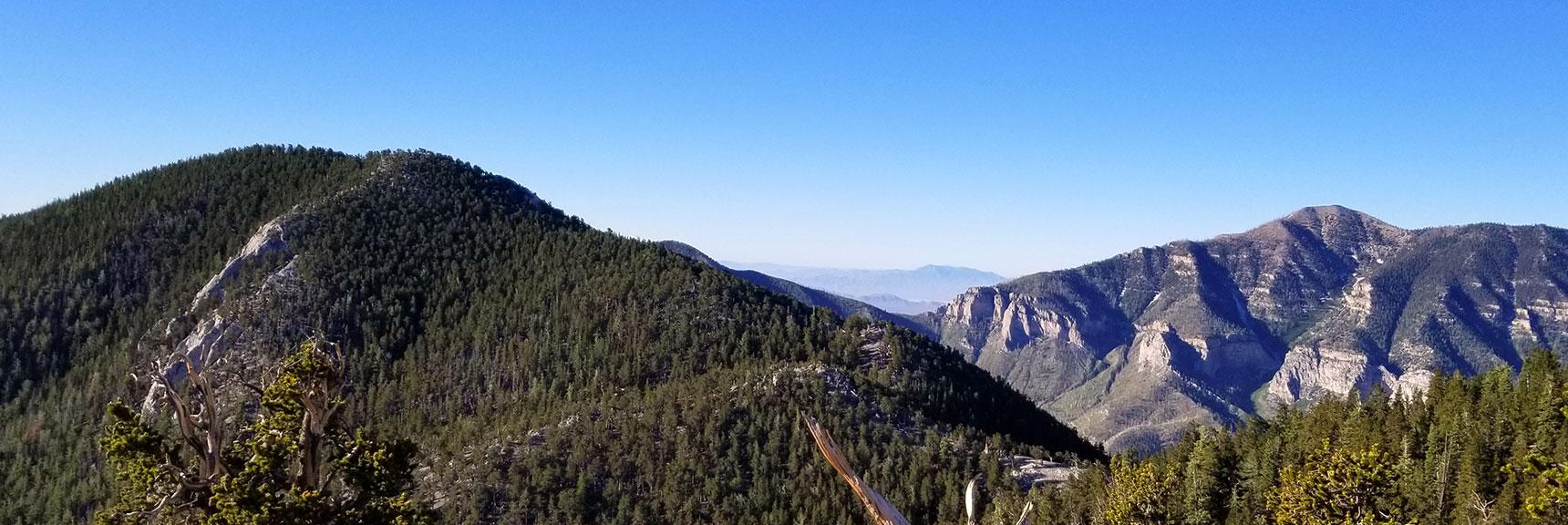 Fletcher Peak from Ridge Over North Loop Trail, Griffith Peak in Background
