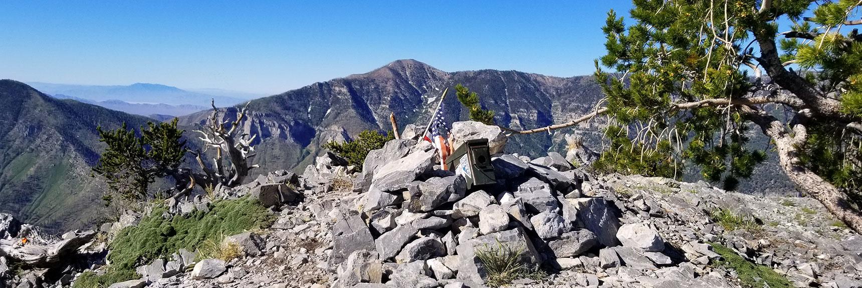 Fletcher Peak Summit, Griffith Peak in Background
