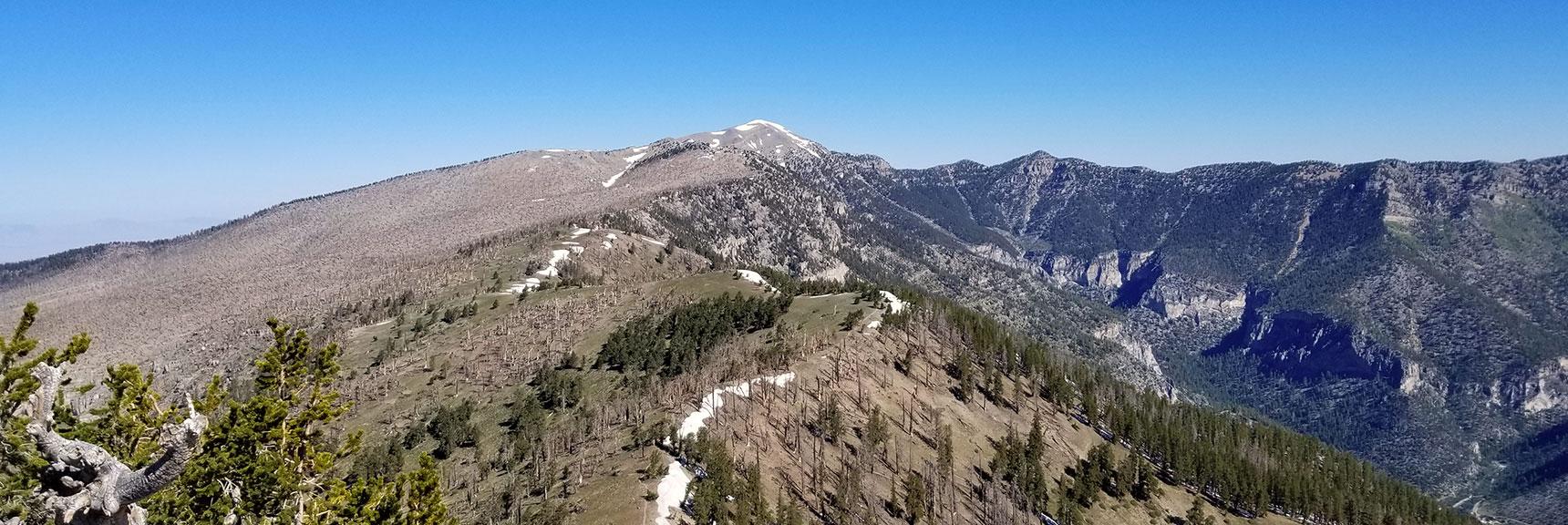 View Toward Mt. Charleston from Griffith Peak Summit, Nevada