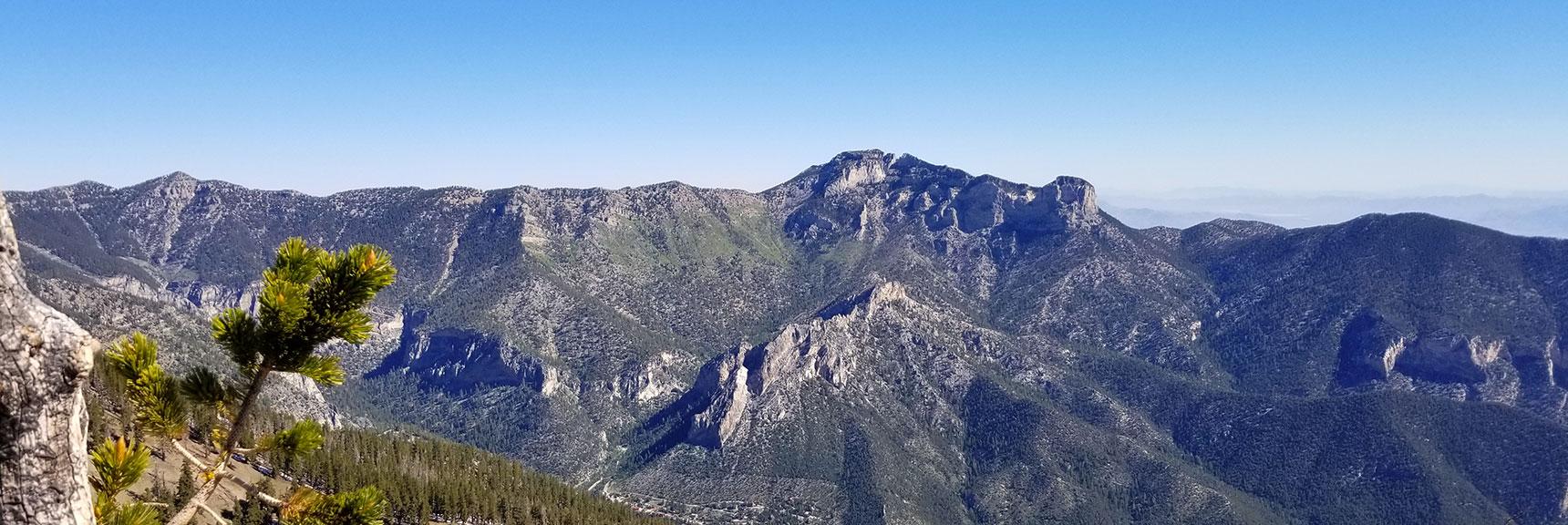 Mummy Mountain and Fletcher Peak from Griffith Peak Summit, Nevada