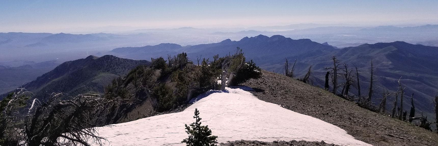 La Madre Mountain Wilderness, Turtlehead Peak, Keystone Thrust Viewed from Griffith Peak Summit, Nevada