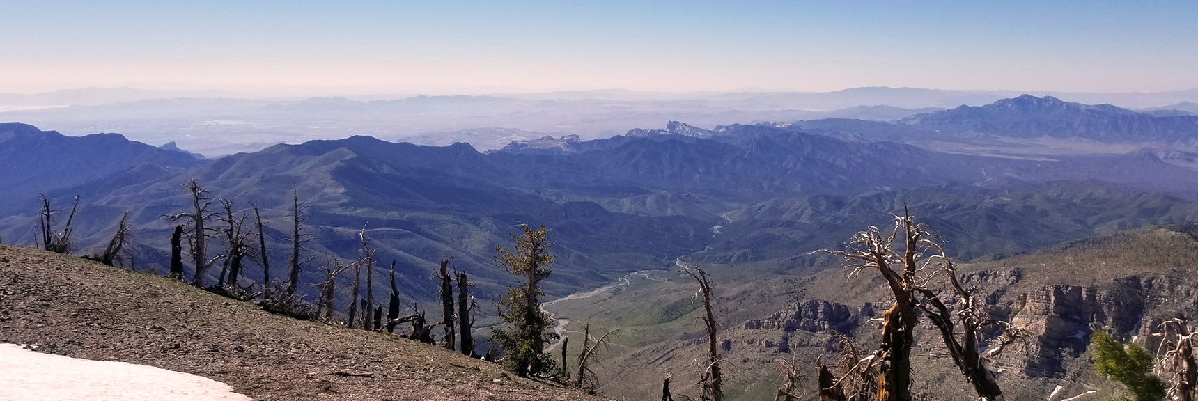 Bridge Mt, Rainbow Mt, Mt Wilson, North Peak, Piedmont Ridge Viewed from Griffith Peak Summit, Nevada