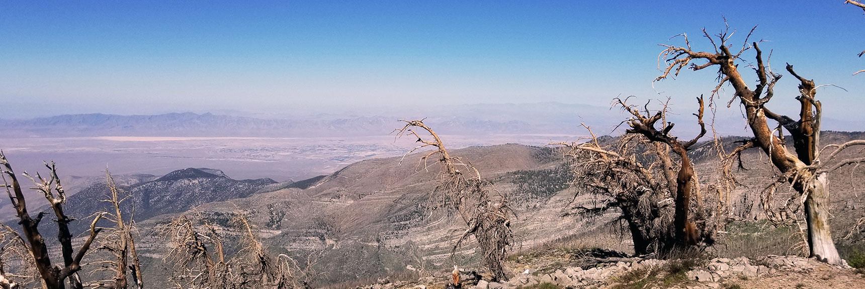 Pahrump, Telescope Peak Viewed from Griffith Peak Summit, Nevada