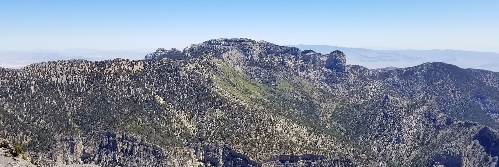 Mummy Mountain Viewed from Kyle Canyon Upper South Rim
