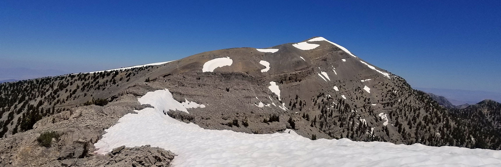 View of Charleston Peak from Saddle About 2 Miles Below