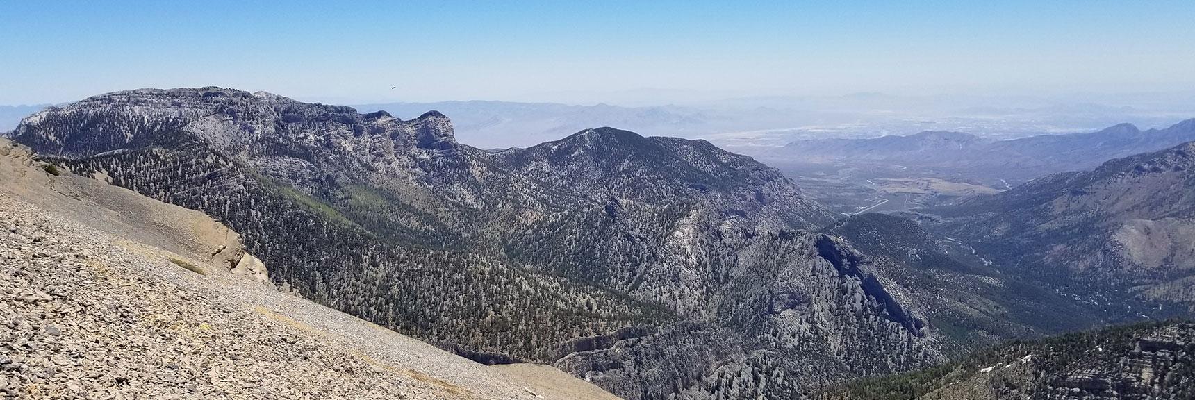 Mummy Mountain from Charleston Peak Summit