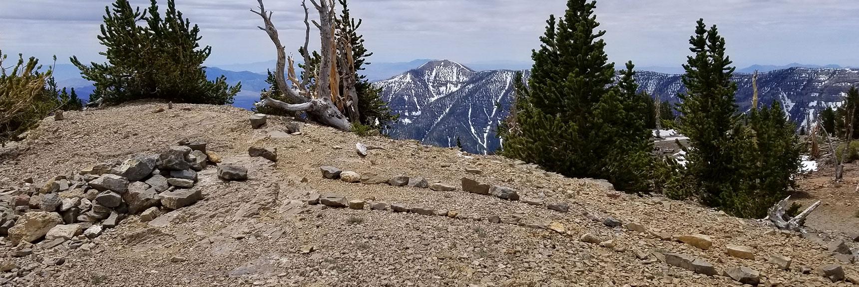 Summit and Summit Box of Mummy Mt. in Mt. Charleston Wilderness, Nevada