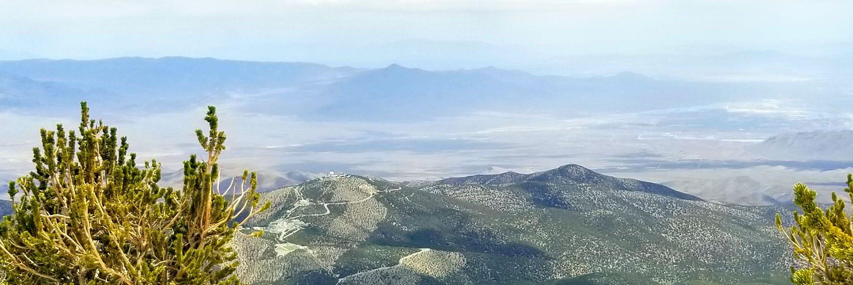Gass Peak Viewed from Mummy Mountain Summit