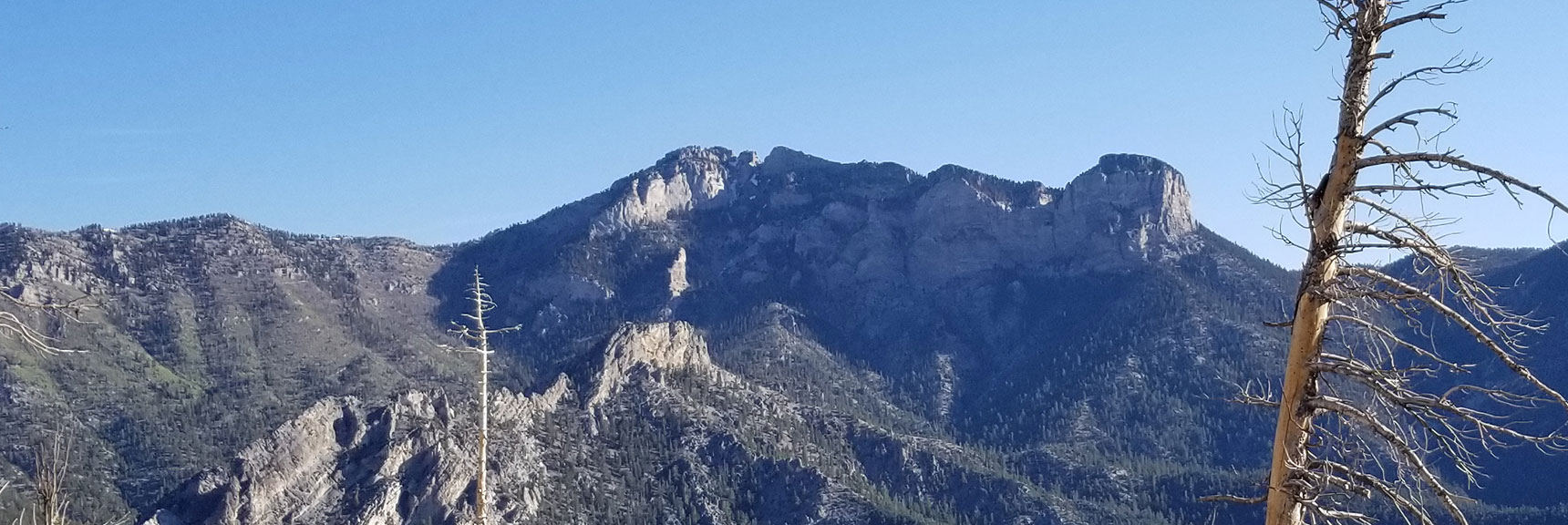 Mummy Mt Viewed from South Climb Trail to Mt. Charleston