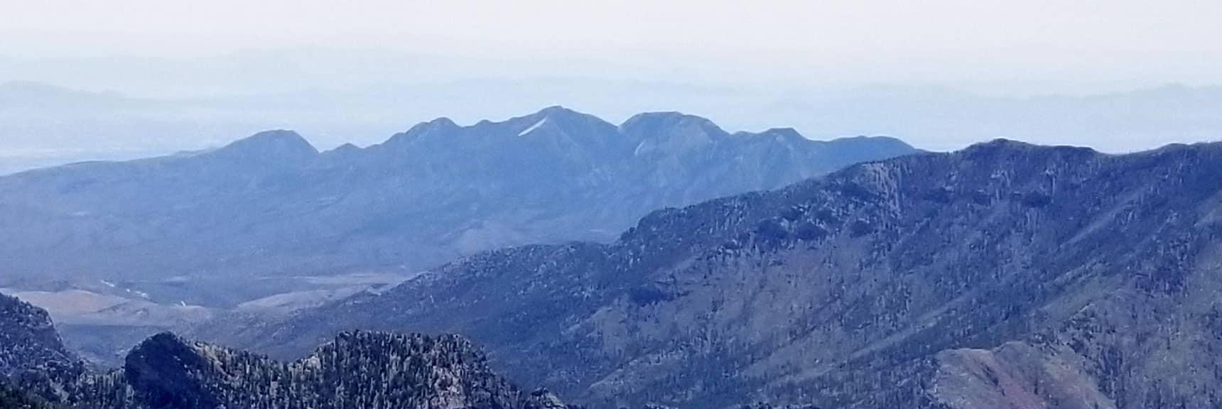 La Madre Mt. Viewed from Lee Peak Summit in Mt. Charleston Wilderness, Nevada