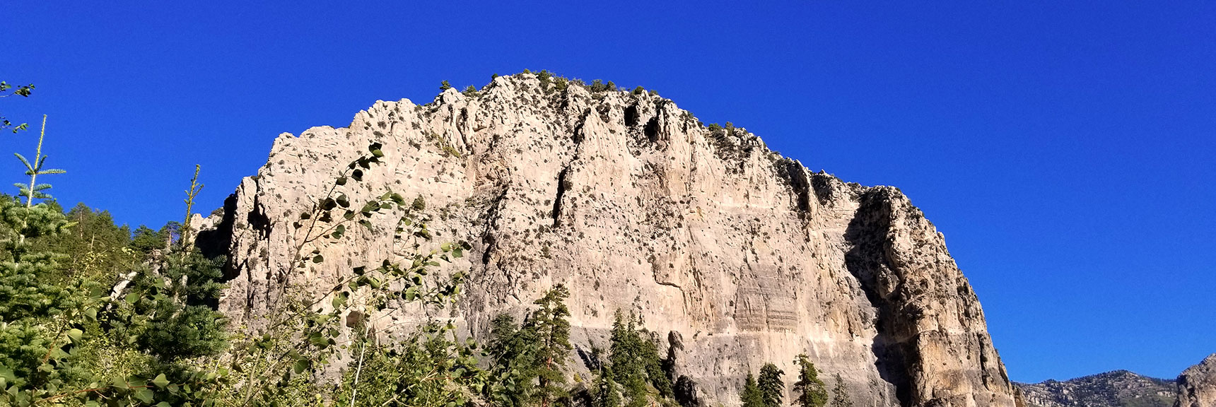 First Full View of Cathedral Rock Along Its Main Trail, Mt. Charleston Wilderness, Nevada