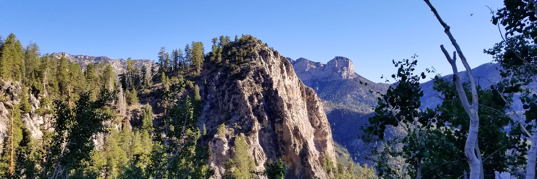 Cathedral Rock Viewed from Behind (South), Mt. Charleston Wilderness, Nevada