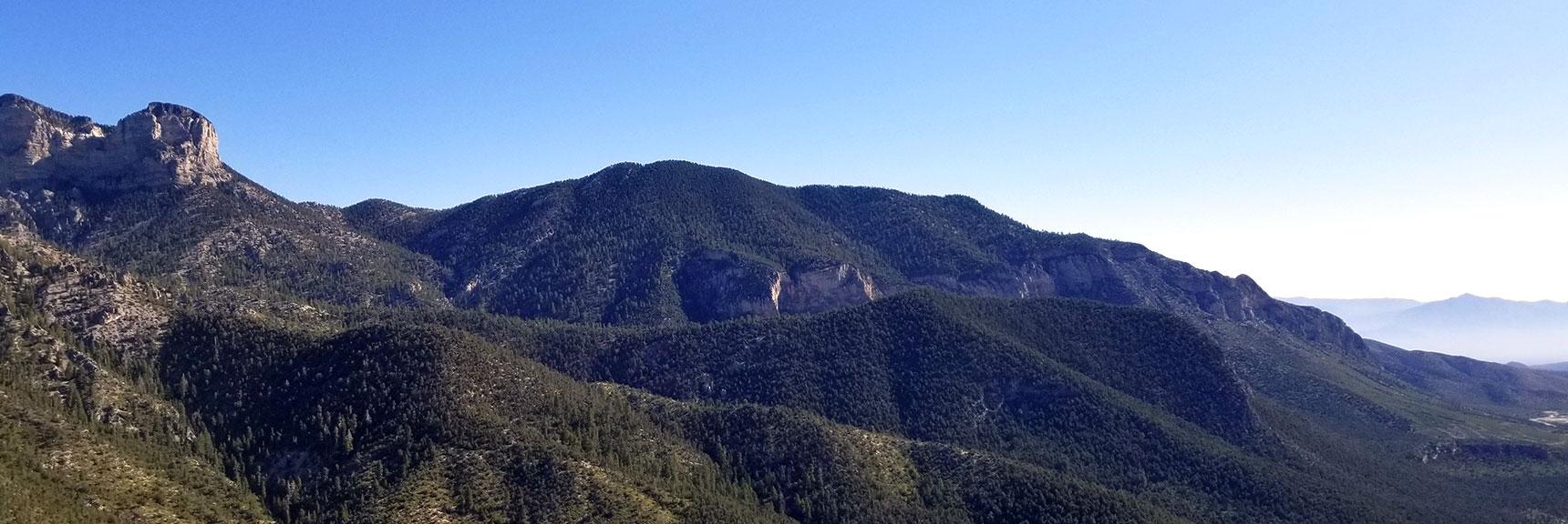 View of Fletcher Peak from Cathedral Rock Summit, Mt. Charleston Wilderness, Nevada