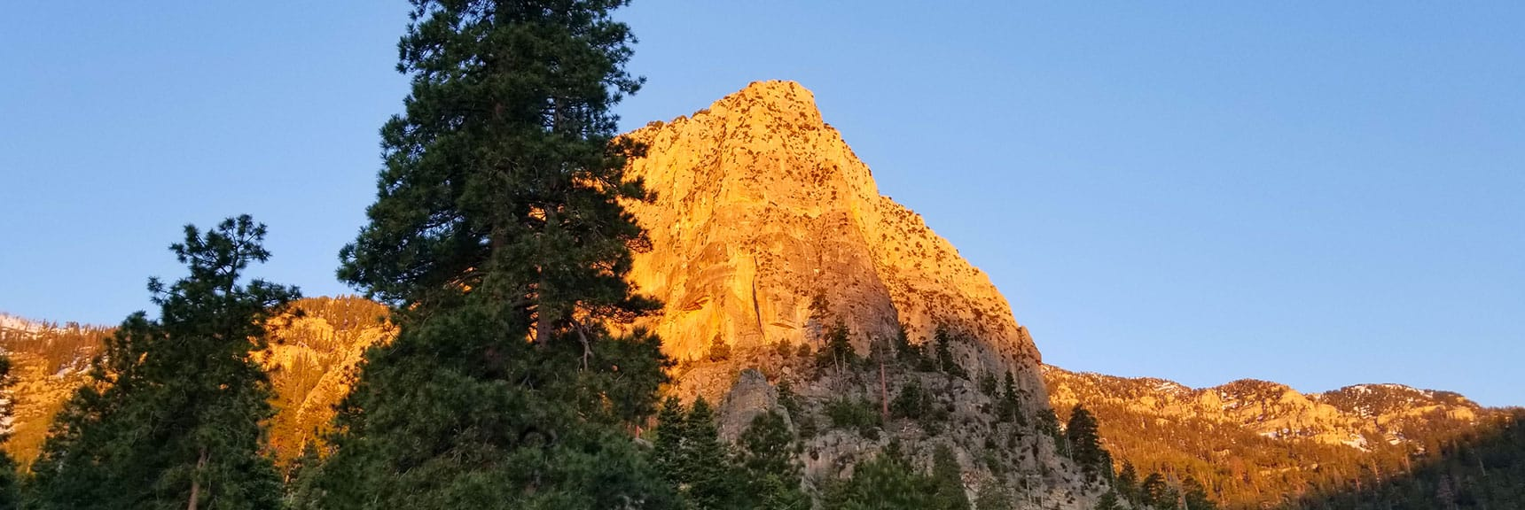 Cathedral Rock Viewed from South Climb Trailhead in Mt. Charleston Wilderness, Nevada